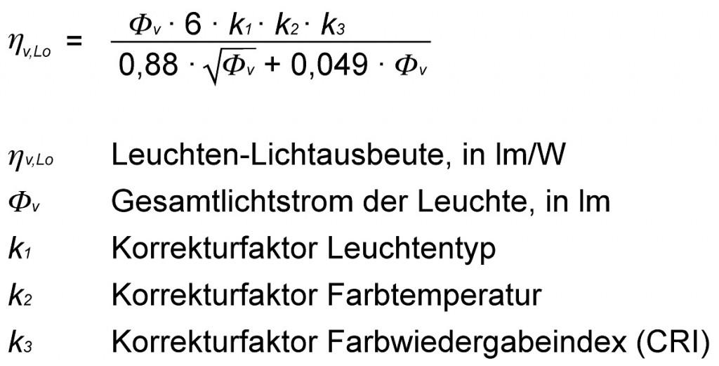 Lichtstrom-Formel